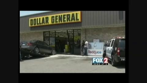 Car Crashed Into Dollar General Store