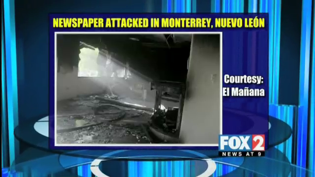 "Mexican ""El Norte"" Newspaper Attacked for 3rd Time"