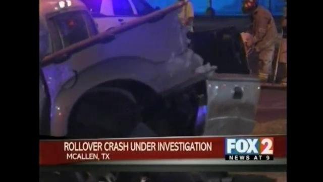 Authorities Investigate McAllen Rollover Crash