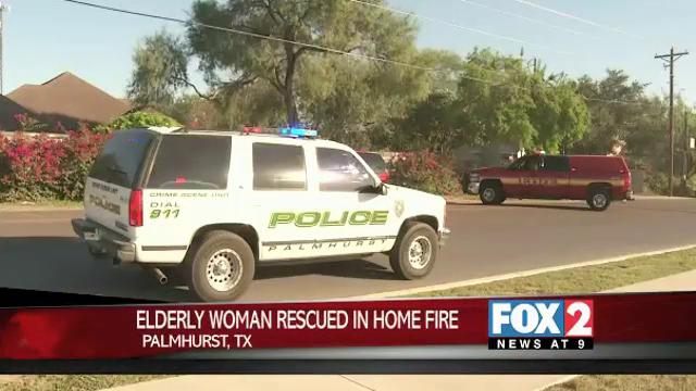 Elderly Woman Rescued in Palmhurst Home Fire