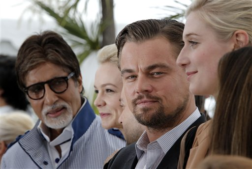 Amitabh Bachchan, Carey Mulligan, Leonardo DiCaprio and Elizabeth Debicki