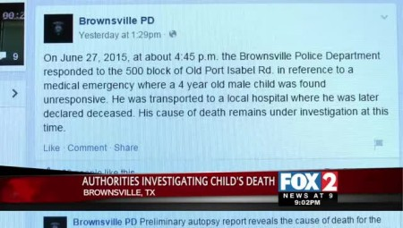 Authorities Investigating Death of Four-Year-Old