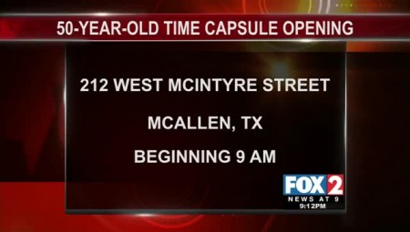 50-Year-Old Time Capsule to be Opened in Edinburg