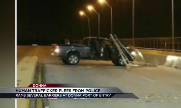 Human Trafficker Rams Barricades at Donna International Bridge