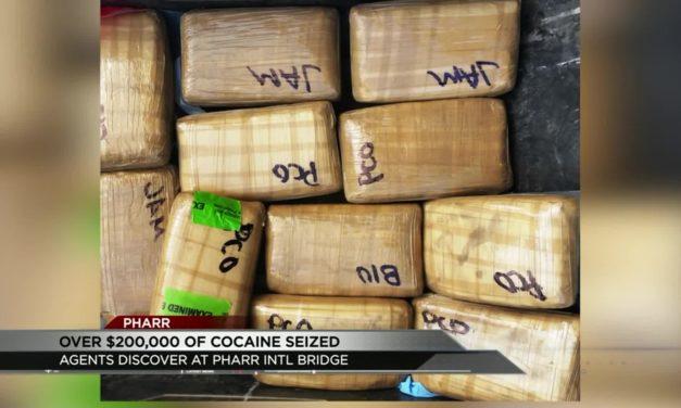 200K of Cocaine Seized at Pharr International Bridge
