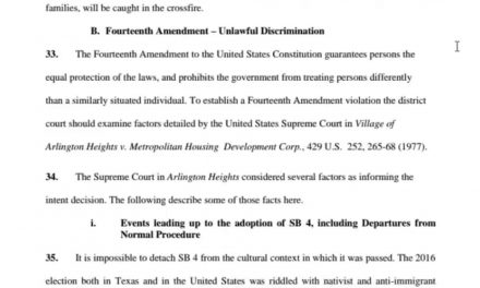 Local Lawsuit Filed Against SB4