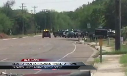 Authorities in a standoff with an elderly man in Harlingen
