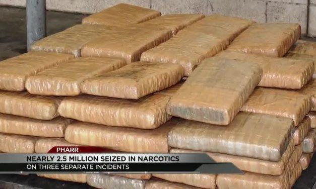 Nearly 2.5 million dollars in heroin and marijuana seized at the Pharr International Bridge.