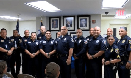 Five New Officers Sworn In To United ISD Police Department to Address Bullying