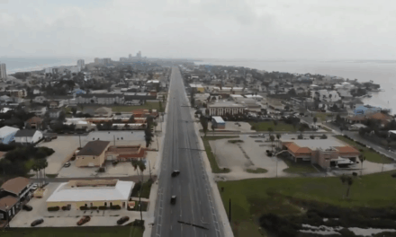 Powerful Winds Hit South Padre Island