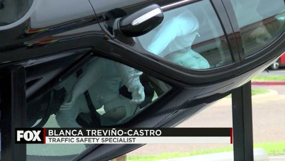 Rollover Simulator Shows the importance of Buckling Up