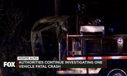 One Vehicle Accident results in One Person Dead