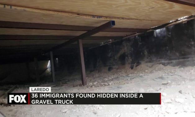 36 Undocumented Immigrants Found Hidden Inside a Gravel Truck