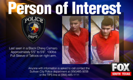 Person of Interest Sought by Authorities After Chase