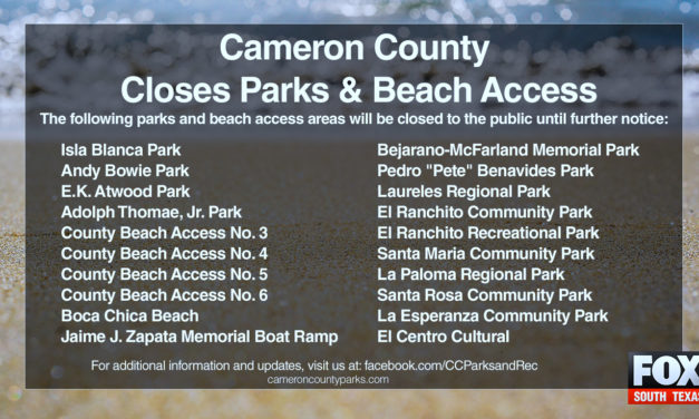 Cameron County Closes Public Parks and Beach Access Areas