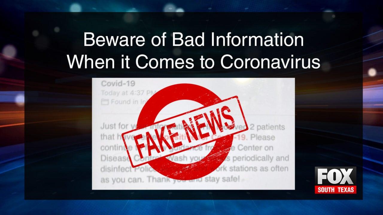 Beware Of Bad Information When It Comes To Coronavirus