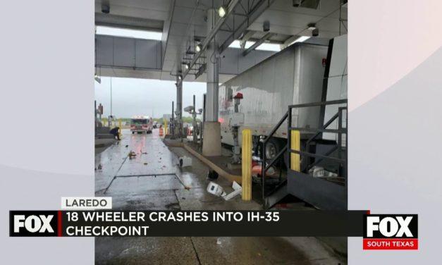 18-Wheeler Crashes into Checkpoint